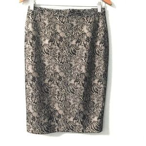 NWT The Limited Black Lace Overlay Pencil Skirt